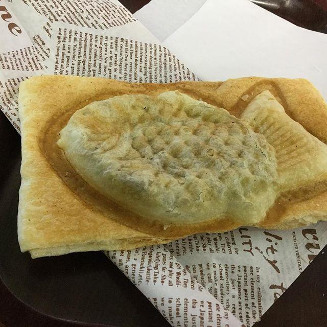 "My lunch today,""taiyaki""This originally a snack with sweet bean paste inside but this is my lunch today.This one, inside was not sweet bean, beef stew! This is not normal so don't order as usual!A bit Fakey lunch today."