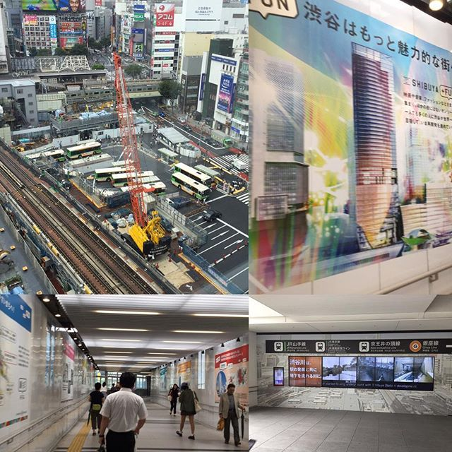 Visiting Shibuya in the weird weather. This area is always constructing to develop the station for its future potential.